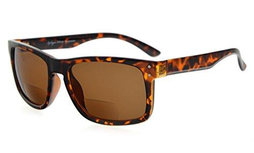 Eyekepper Bifocal Sunglasses Men Women (Tortoise Frame, Brown Lens - Sunglasses Z