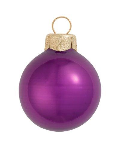 (4ct Pearl Soft Plum Purple Glass Ball Christmas Ornaments 4.75