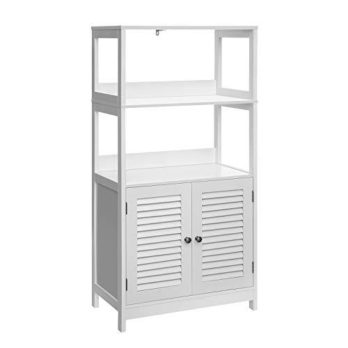 VASAGLE Bathroom Tall Cabinet, Freestanding Linen Tower, Tall Bathroom Storage Cabinet, 2 Open Shelves and Doors, 23.6 x…