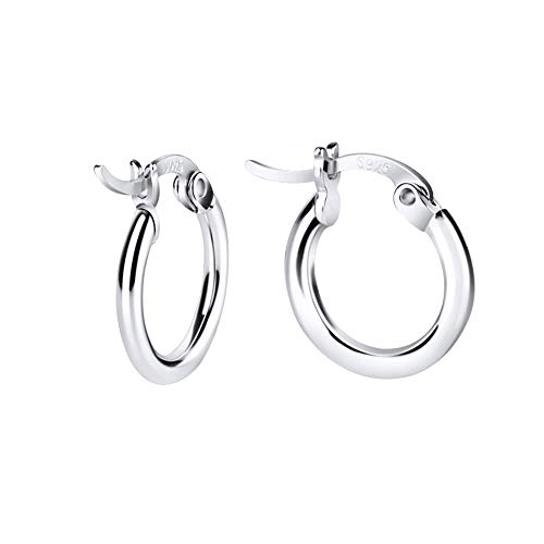 Sterling Silver Hoop Earrings (Small Hoop Earrings Sterling)