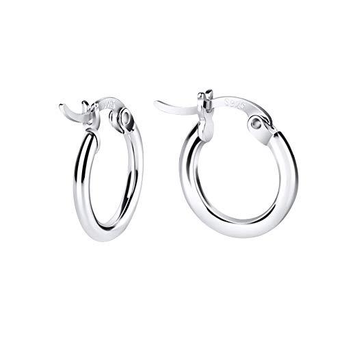 Silver Ring Earrings (Sterling Silver Hoop Earrings)