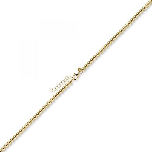 Boule 4mm de collier de collier bijoux en or jaune 585, 55cm
