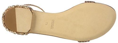 Badgley Mischka Womens Steffi Flat Sandalo In Oro Rosa