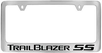 TRAIL BLAZER CHEVROLET Chevy Stainless Steel Black License Plate Frame RustFree