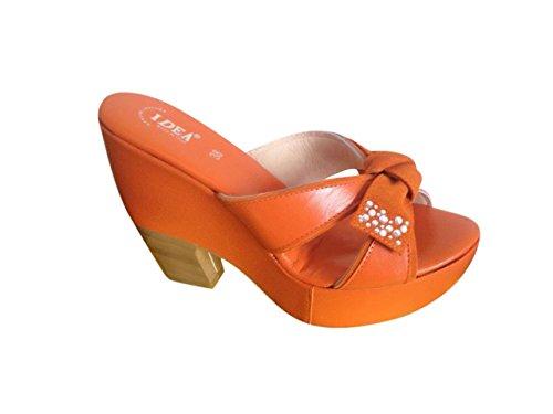 Idea Damen Sandalen Orange