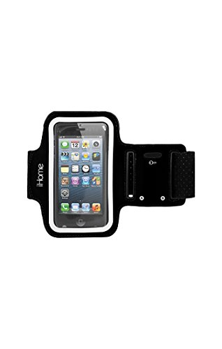 iHome Sport Adjustable Armband for Samsung Galaxy S4 - Black Black Adjustable Sports Armband