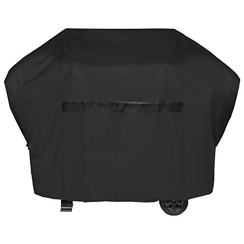 iCOVER BBQ Grill Cover - 60 inch Heavy Duty Barbeque Gas Grill Cover 600D Canvas Waterproof No Fading Smoker Covers, for Weber,Char Broil, Holland, Jenn Air, Brinkmann.G21604