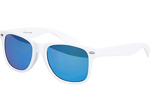 Miroir Unisexe Bleu Qualité Gomme Soleil Charnière Choix Rétro Haute Blanc modèles Avec 101 Ressort Nerd À Lunettes Au Mat Couleurs Effet Balinco Vintage Plusieurs De SqCvBnw