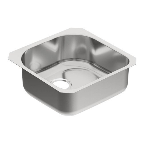 Moen G18160 1800 Series Steel 18-Gauge Single Bowl Sink, Stainless by Moen by Moen