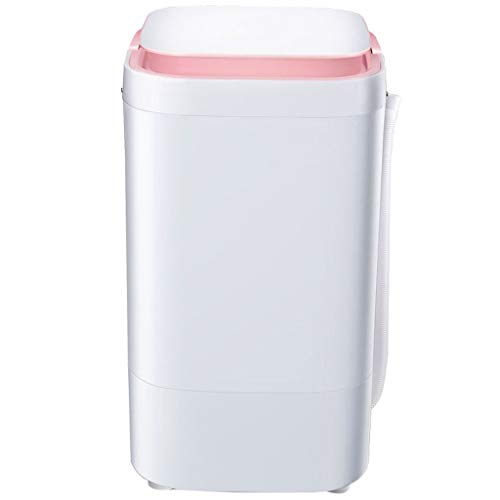 Portable Clothes Washer – Small Semi-Automatic Compact Washing Machine Blu-Ray Bacteriostatic,Three Colors Optional (Black, Blue, Pink)
