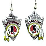 Washington Redskins Dangle Earrings - NFL Football Fan Shop Sports Team Merchandise