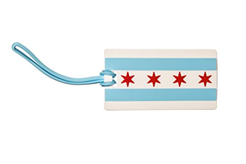 CITY OF CHICAGO Flag LUGGAGE TAG