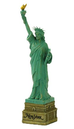 Price comparison product image 10 Inch Statue of Liberty Statue,  Green with Brown New York Base Statues