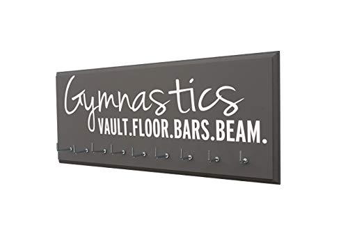 - RunningontheWall Gymnastic Medal Hanger, Gymnast Medal Holder Gymnastics Vault.Floor.Bars.Beam. Ribbon Display Rack