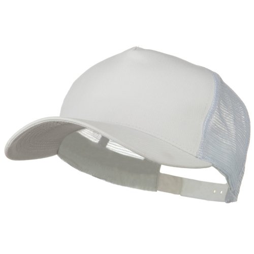 e4Hats.com New Big Size Trucker Mesh Cap - White OSFM