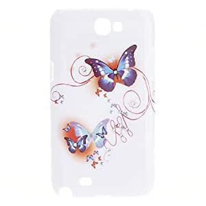 Elegant Design Butterfly Pattern Durable Hard Case for Samsung Galaxy Note 2 N7100