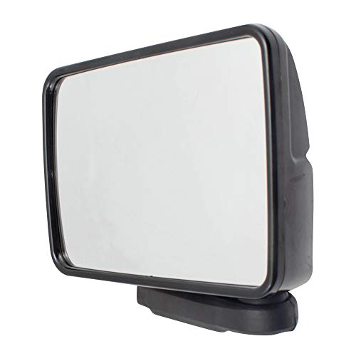 Price comparison product image Brock Manual Side View Mirror Drivers Sail Mounted Ready to Paint Housing for 87-93 Ram 50 87-96 Mitsubishi Mighty Max Pickup Truck replaces 4443259 MB476281