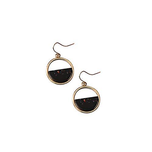 - Junshion Vintage Acrylic Acrylic Geometric Round Earrings Women's Jewelry Earrings for Women Sterling Silver Hoop Earrings