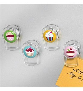 Spectrum Cupcake Magnetic Clips 4 Pack (Cupcake Clip)