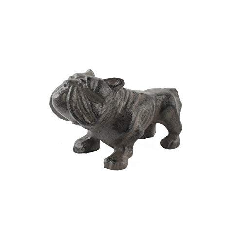 Heavy Weight Cast Iron Bull Dog Metal Paperweight Bulldog Desk Guard Dog Figure