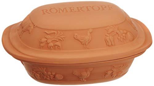 Romertopf Embossed 5.5 Pound Clay Baker - Rustic Look