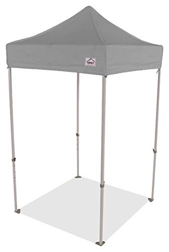 (Impact Canopy 5' x 5' Pop-Up Canopy Tent, Lightweight Powder-Coated Steel Frame, Straight Leg, Gray)