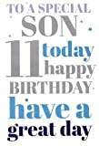 To A Special Son on your 11th Birthday Card 7327CG