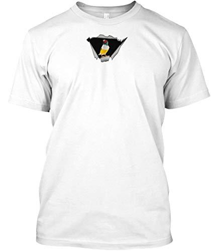 - Finch Sticker XL - White Tshirt - Hanes Tagless Tee