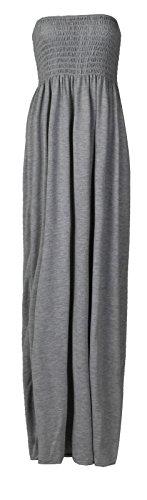 Maxi Robe Fast Femme Sheering Plus Plaine Gris La Taille Fashion Boobtube EpwAw5