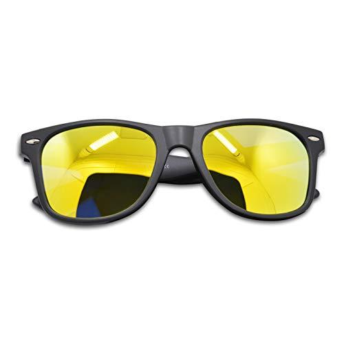 Unisexe Lentille Charnière Polarisé Spring 400 Protection Lentille soleil de UV Or Cadre Matte Lunettes Cadre WHCREAT Noir Mat de dxAPwqFd