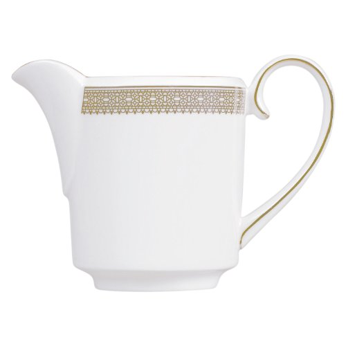 White Gold Creamer (Wedgwood Vera Wang Vera Lace Gold Imperial Creamer)