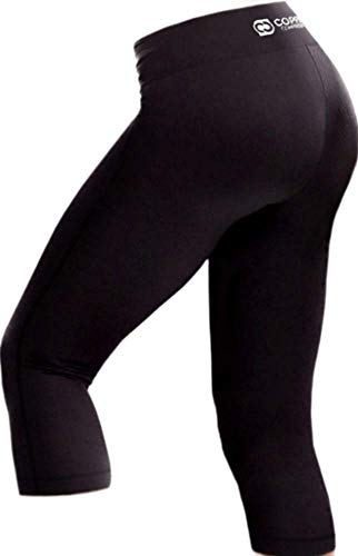 Copper Compression Womens Capri Leggings - High Waist 3/4 Pants, Tights, Capris (Large (Size 12-14)) ()