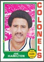 1974 Topps Regular (Basketball) Card# 217 Joe Hamilton of the Kentucky Colonels NrMtBtr Condition