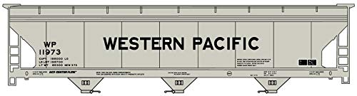 Accurail HO Scale Kit ACF 3-Bay Center-Flow Covered Hopper Western Pacific ()