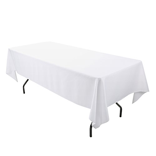 E-TEX 60 x 102-Inch Rectangular Tablecloth, 100% Polyester Washable Table Cloth for 6Ft. Rectangle Table, -