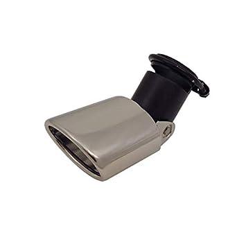 Auspuffblende universal Anschluss 45-58mm verstellbar Edelstahl Oval