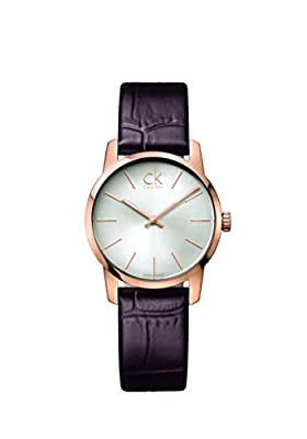 Calvin Klein K2G23620 Ladies City Rose Gold Leather Strap Watch