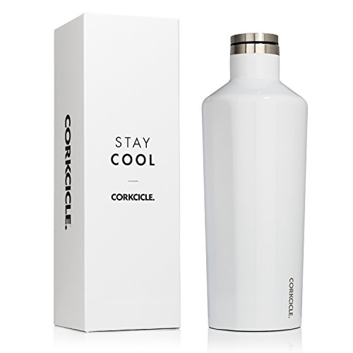 Corkcicle Canteen Classic Collection-Water Bottle & Thermos-Triple Insulated Shatterproof Stainless Steel, 60 oz, Gloss White