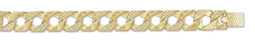 Or 9ct Lézard en fonte et poli chaîne gourmette Collier 50,8cm
