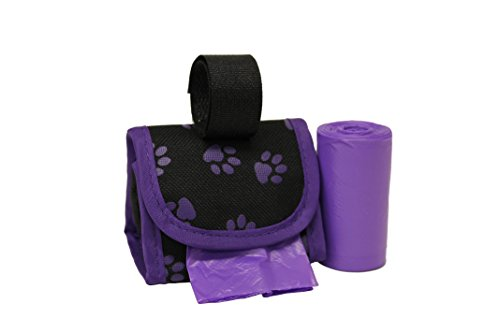 Five Star Pet Purse Dispenser with 2 Rolls Refill Bags (Purple Paw)