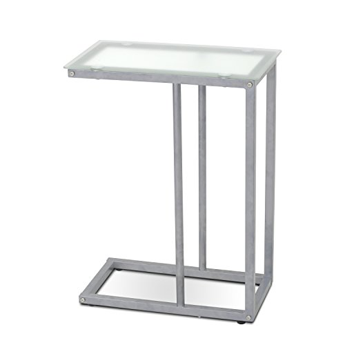 Furinno FTD0405G Kaca Glass Snack Table, Clear