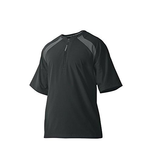 Game Day Baseball Jersey - DeMarini Men's Game Day Batting Practice Jacket, Black, X-Large