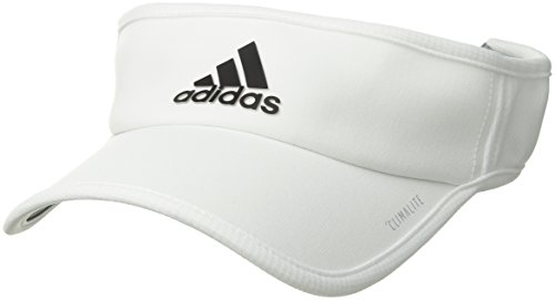 Visor Beanie White - adidas Men's Superlite Performance Visor, White/Black, One Size
