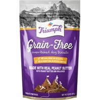 Triumph Grain-Free Dog Biscuits, Peanut Butter, 12 Ounces