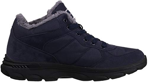 Nylon Cold Weather Navy Insulated WHITIN Men's Boots Nubuck qE0ZwZ