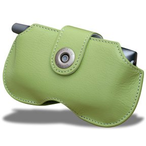- Covertec Leather Horizontal Case for Palm Treo - Baby Green