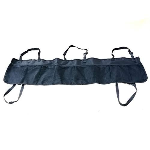 Wakauto Car Back Seat Organizer, Adjustable Car Trunk Mesh Storage Bag, Multi Pockets Mesh Holder Storage Bag for Truck, SUV, Van (Black)