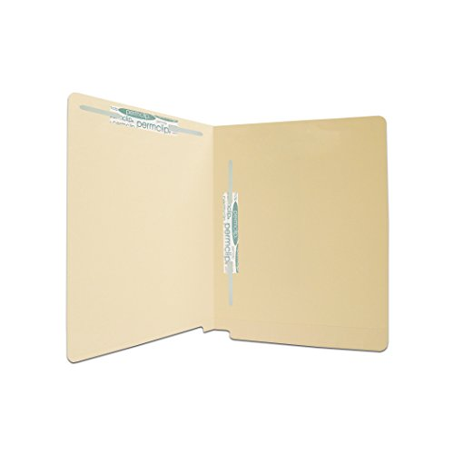 (Medical Arts Press Match 11pt Full Cut End Tab File Folders with 2 Permclip Fasteners in Position 3 and 5- Letter Size, Mylar Spine (50/Box))