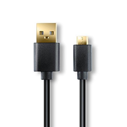 CSL - 2m High Speed Micro USB auf USB Kabel | Lade- und Datenkabel | Schnelladekabel mit besonders hohen Kabeldurchschnitt 4,4mm | 24k vergoldete Kontakte | für Android, Samsung, HTC, Motorola, Nokia, LG, HP, Sony, Blackberry und mehr