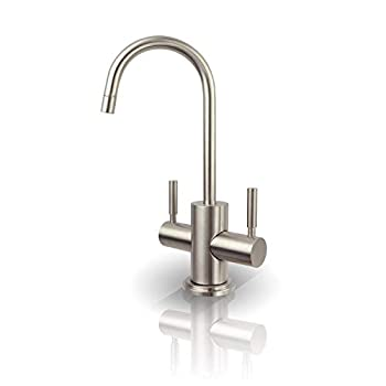 Image of APEC Water Systems FAUCET-HC-WST-NP Instant Hot and Cold Reverse Osmosis Drinking Water Dispenser Faucet Brushed Nickel Home Improvements